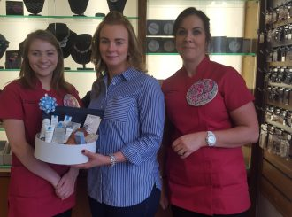 Louise And Sharon With Prizewinner Nuala